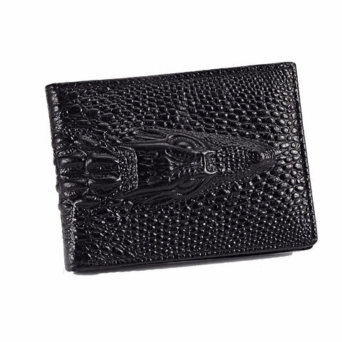 2017 Fashion Vintage Style High Quality PU Leather Walle Men Women Crocodile Card Bag Credi Card Package Holder Card Case