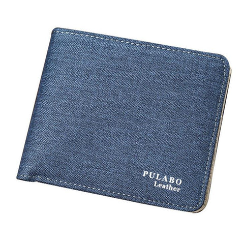 2017 Ho Selling! Mens Shor Denim Fabric Walle Be Sof Canvas Purse Bifold Fashion Ultra-thin Male Walle Casual Money Bag