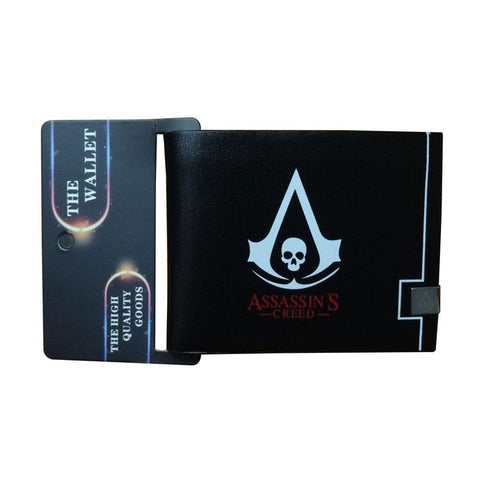 2017 New Assassin's Creed Wallets Anime Logo Purse Leather Card Holder Bags carteira feminina Gif Men Women Folded Shor Wallet