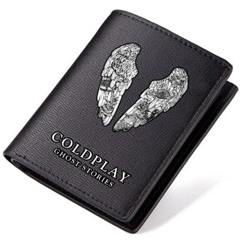 2017 New Britpop Coldplay Gho Stories UniSex Rock Shor Walle Pu Leather Men Long Coin Purse Black Organizador Card Holder
