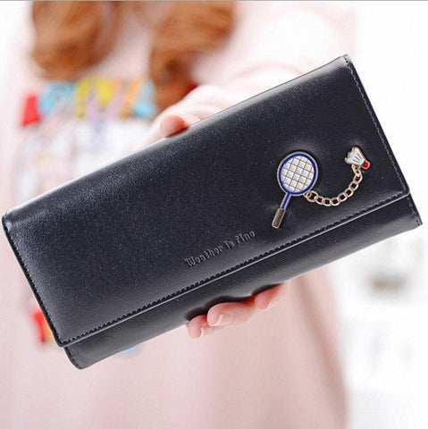 2017  New Elegant Women Wallet Casual Brand Design Winter Fashion Purse PU Leather Candy Color Cute Long Purse Women Clutch