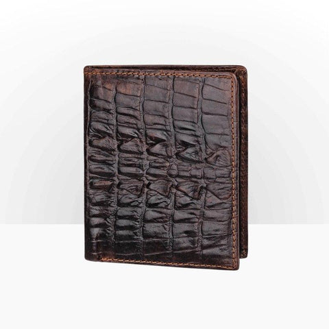 2017 New Genuine Leather Cowhide Dark/Black Crocodile Pattern Men Shor Walle Purse Card Holder Coin Pocke Male Wallets S071