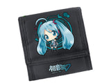 2017 New Hatsune Miku Kawaii Printing Women Shor Walle Princess Miku Coin Purse Carteira Feminina Gif Id Card Holder