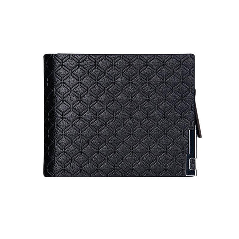 2017 New slim men walle walle Fashion High Quality Designer Black Brown magic walle Zipper Clutch Plaid Leather Purse EA0287