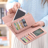 2018 Fashion Wallet Women's Purse Wallet Card Holder Female Clutch Long Purse Multi-card Bit Luxury Designer Lady Coin Purses