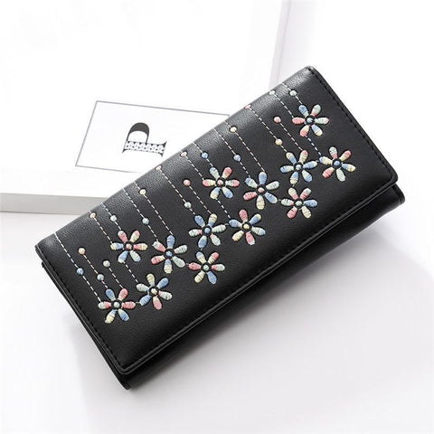 2018 Fashion Women Wallet Embroidered Long Purse Female Casual Pouch Handbag Women's Purse
