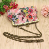 2018 Fashionable Women Lady Retro Vintage Butterfly 7Inch Wallet Hasp Purse Clutch Bag High Quality