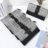 2018 New Fashion Women Wallet Lattice Long Wallet Female Best Phone Wallet Case Coin Pocket Pouch