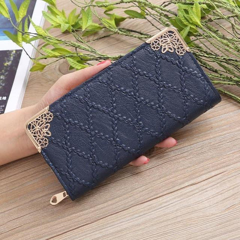 2018 Pu Leather Long Women Wallet Korean Style Designer Coin Women's Purse Cards Hoder Teenage Gir Wallet Female Carteira Femme