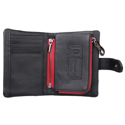 RFID 10 Card Genuine Leather Casual Wallet
