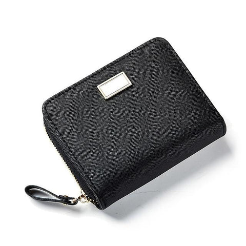 3157 Fresh Women Credit Card Wallet Female Small Solid Zipper Purse For Girls Photo Holder Pocket 2018 Short leather Wallets