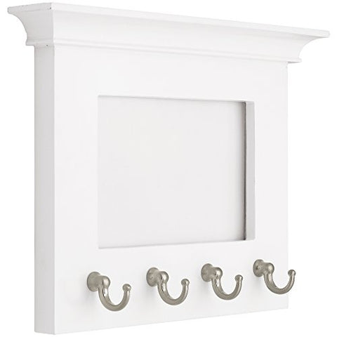 LIBERTY PFKEYR-WSN-R Picture Frame with 4 Key Hooks, 6""