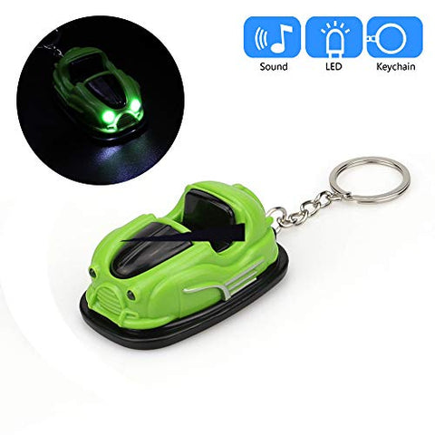Glumes Cute Mini Car Keychain with LED Flashlight and Sound Effects 3D Cute Cartoon Key Holder For Children Designer Key Ring for Kids Christmas Thanksgiving Gift 1 PCS (Red)