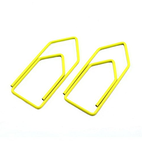 RuiLing 30-Pack Paper Clips,Yellow Creative Shape 2.7 inch Length Great for Paper Clip Collectors Bookmark Document Holder Office School