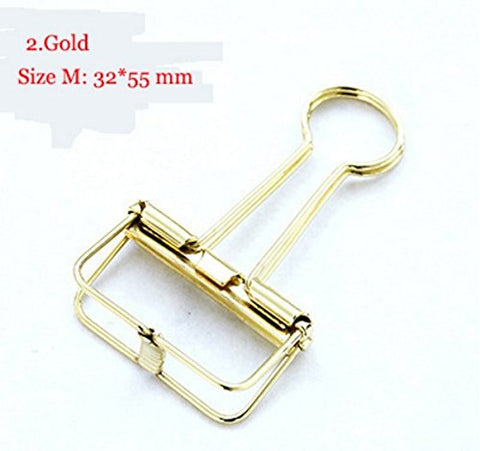Gold Cute Metal Binder Clips Clips Small Craft Photo Pegs office bookmarks Kawaii Stationery