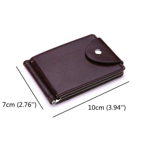Business Pu Leather Wallet 6 Card Slots Card For Men
