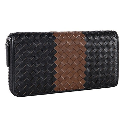 Banuce Vintage Long Zipper Wallet for Men Full Grains Leather Clutch Purse Large Capacity Card Holder Phone Case