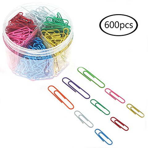 JPSOR Paper Clip—600 28/33/50mm Colors Paper Clips, for Office and Personal Document Organization