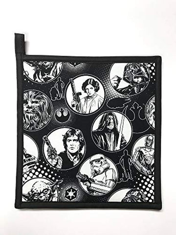 "Star Wars - Black & White - Handmade 9x9"" Pot Holder"
