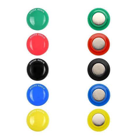 10Pcs Round Neodymium Refrigerator Magnets with Assorted Colors, 30mm-Diameter, Easily Hold 14+ Sheets of Paper to Make Your Fridge More Neatly
