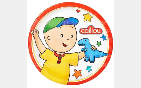"Caillou Dinosaur Toy Edible Image Photo 8"" Round Cake Topper Sheet Personalized Custom Customized Birthday Party"