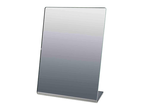"Marketing Holders 5"" x 7"" Acrylic Mirror for Counter Free Standing Single-Sided Self-Portrait Mirror Qty 5"