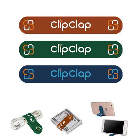 Colorful All-Purpose Silicone Ties Multi-use smart tie, Bag Clip, Bread Tie, Food Saver, Household Snake Ties (Clipclap)