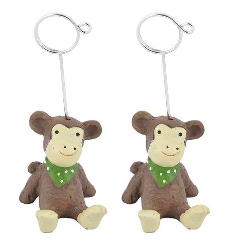 uxcell Resin Home Office Festival Monkey Design Table Ornament Photo Picture Card Memo Clip 2pcs