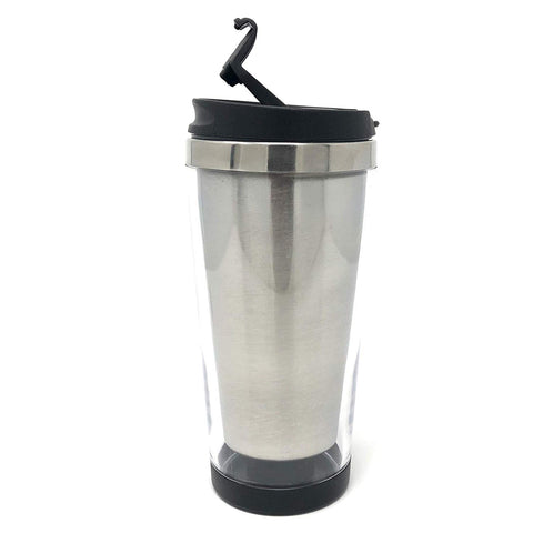Engy DIY 16 oz Photo Insert Travel Tumbler Coffee Mug Tea Cup Stainless Steel With Plastic Lid