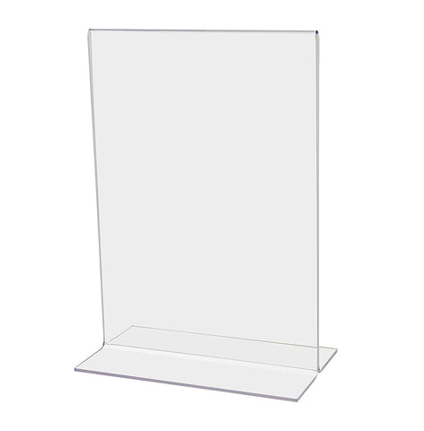 "Marketing Holders Literature Flyer Poster Frame Letter Notice Menu Pricing Deli Table Tent Countertop Expo Event Sign Holder Display Stand Double Sided Bottom Loading 5.5""w x 8.5""h Pack of 24"