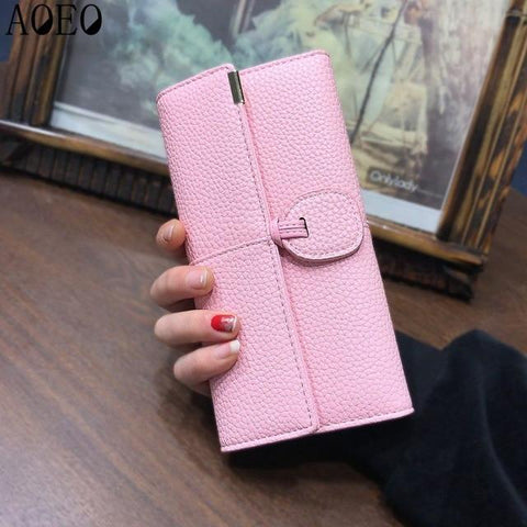 AOEO wallet for women wallets with zipper coin purse Long Clutch bag money ladies card holder Organizer Gilrs wallet female