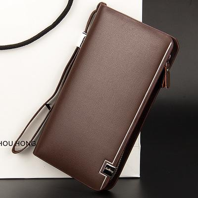 2017 New design men wallets Casual wallet mens purse Clutch bag Brand leather wallet long design man bag gift for male
