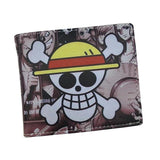 2017 New Design Cartoon Walle One Piece Luffy Pirate Skull Comics Wallets with Coin Pocke Free Shipping