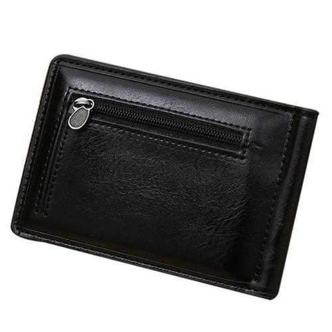 Fashion Men Wallets Mini Zipper PU Leather Credit