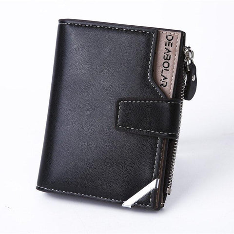 2018 New Men's Multifunctional Fashion Casual Short Style Wallet Coin Purse Male Wallets Card purse Wholesale zipper price