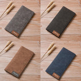 Pu Leather Bifold Business Long Wallet