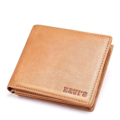 100% High Quality Genuine Leather Men Wallets Fashion Simple Shor Dollar Purse Carteira Masculina Bifold Mens Purse Walet