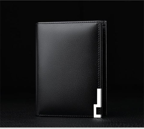 2017 Genuine Leather Men Wallets 14 Business Card Holders Zipper Pocke Purse Carteira POLO218