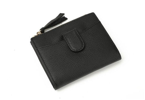 2017 ladies fashion walle women cowhide spli leather clutch small coin purse zipper thin cash pocke card holder wallet