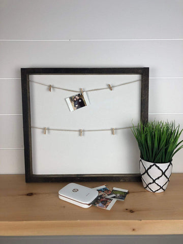 photo holder wood sign | farmhouse picture holder
