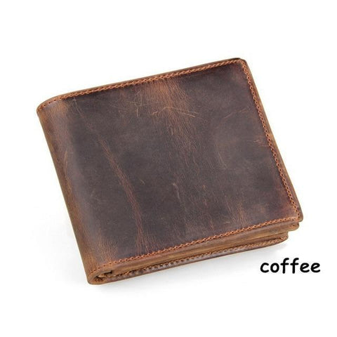 Men's 100% Genuine Faded Leather Cowboy Wallet