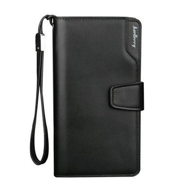 Casual Leather Long Wallet