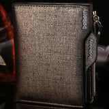 2017 Hot Fashion men wallets Bifold Wallet ID Card holder Coin Purse Pockets Clutch with zipper Men Wallet With Coin Bag Gift