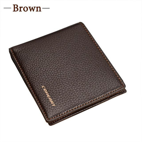 COHEART Wallet Men Leather Purse New Product Promotion !!!  Top Quality Brand Men Wallet Leather Purse Male Practical Wallet  !!