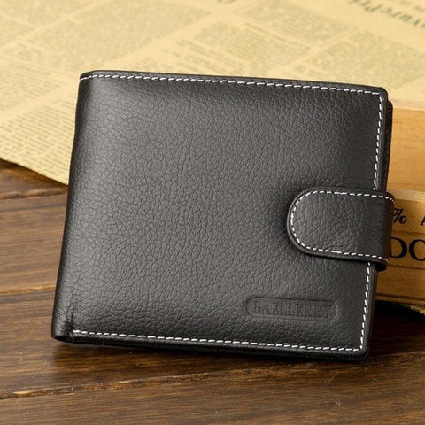 Baellerry Genuine Leather Men Wallets Purse Money Bag Fashion Male Wallet Card Holder Coin Purse Wallet Men Clutch Pocket MWS023