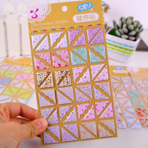 192pcs/LOT Photo Album Corner Sticker Crystal Paper DIY Scrapbook Diary Photo Album Decoration Label Photo Holder High Quality