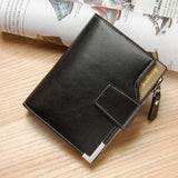 Brand wallet Fashion leather Men Wallet coin pocket zipper portfolio Handy luxury Short purse3 Fold Male Purses Cards wallets