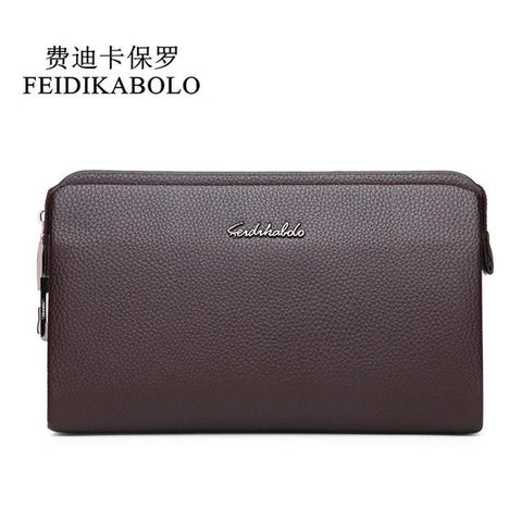FEIDIKBOLO Top Quality Leather long Wallet Men Pruse Male Clutch Zipper Wallets Password Lock Security Wallets Men Money bag Man