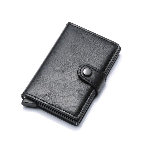 DIENQI Rfid Card Holder Men Wallets Money Bag Male Vintage Brown Short Purse Small Leather Smart Wallets Mini Wallets