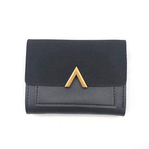Matte Leather Small Women Wallet
